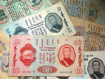 Vecchi soldi della Mongolia Immagine Stock Libera da Diritti