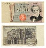 Vecchi soldi italiani Immagine Stock
