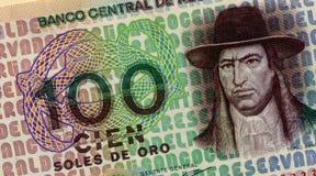 Vecchi soldi peruviani Fotografie Stock Libere da Diritti