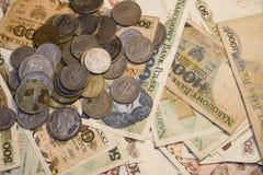 Vecchi, soldi polacchi Immagini Stock Libere da Diritti