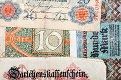Vecchi soldi tedeschi Immagine Stock