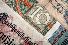 Vecchi soldi tedeschi Fotografia Stock
