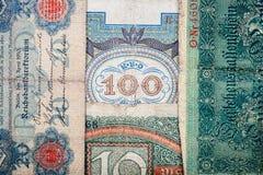 Vecchi soldi tedeschi Immagini Stock Libere da Diritti