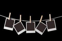 Vecchi spazii in bianco della pellicola del Polaroid immagini stock libere da diritti