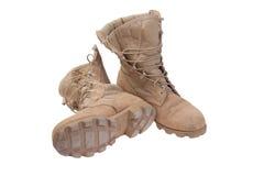 Vecchi stivali di deserto utilizzati Immagine Stock Libera da Diritti