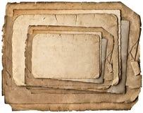 Vecchi strati di carta grungy isolati su bianco Immagini Stock