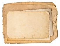 Vecchi strati di carta grungy usati Fotografia Stock Libera da Diritti