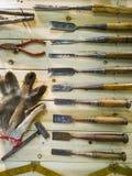 Vecchi strumenti Immagini Stock