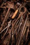 Vecchi strumenti arrugginiti Fotografia Stock Libera da Diritti