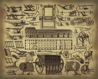 Vecchi strumenti d'agricoltura royalty illustrazione gratis