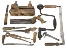 Vecchi strumenti del carpentiere Fotografia Stock Libera da Diritti