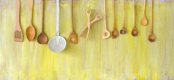 Vecchi strumenti della cucina Fotografie Stock Libere da Diritti