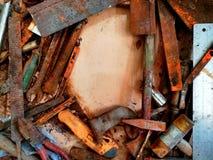 Vecchi strumenti e macchia fotografia stock libera da diritti