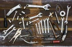 Vecchi strumenti. Vista ambientale Immagini Stock