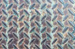 Vecchi struttura e fondo del pavimento del metallo del primo piano Fotografia Stock Libera da Diritti