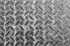 Vecchi struttura e fondo del pavimento del metallo del primo piano Fotografia Stock