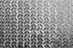 Vecchi struttura e fondo del pavimento del metallo del primo piano Fotografie Stock Libere da Diritti