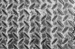 Vecchi struttura e fondo del pavimento del metallo del primo piano Immagine Stock