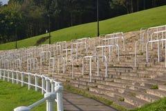 Vecchi supporti di rugby di pontypool Fotografia Stock