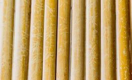 Vecchi tailandesi grungy handcraft del recinto di bambù del modello del tessuto Fotografie Stock
