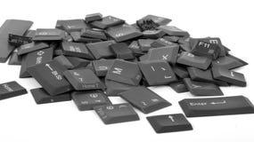 Vecchi tasti di calcolatore Immagini Stock