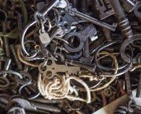 Vecchi tasti di scheletro immagine stock libera da diritti