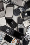 Vecchi telefoni cellulari - cellulari Immagine Stock
