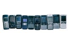 Vecchi telefoni mobili Fotografie Stock Libere da Diritti