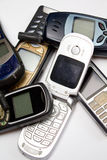 Vecchi telefoni mobili II Fotografia Stock