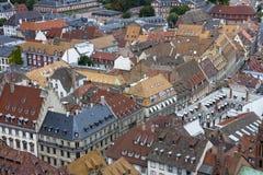 Vecchi tetti della casa Fotografia Stock Libera da Diritti