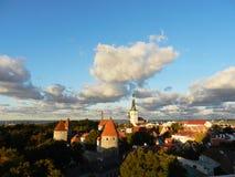 Vecchi tetti della città Fotografie Stock