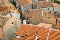 Vecchi tetti della città fotografia stock libera da diritti