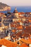 Vecchi tetti della città di Dubrovnik Fotografia Stock