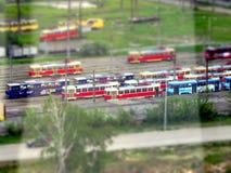 Vecchi tram della Cecoslovacchia fotografie stock