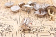 Vecchi transistori Immagini Stock