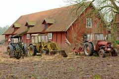 Vecchi trattori d'annata Fotografia Stock Libera da Diritti