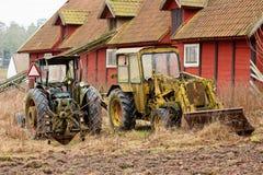 Vecchi trattori d'annata Immagine Stock Libera da Diritti