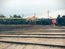 Vecchi treni fotografia stock