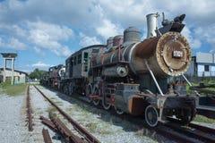 Vecchi treno e locomotiva a Avana Fotografia Stock