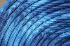 Vecchi tubi flessibili di plastica blu Fotografia Stock Libera da Diritti