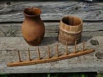Vecchi utensili di legno Immagini Stock Libere da Diritti