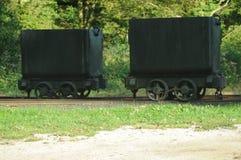 Vecchi vagoni di estrazione mineraria Fotografie Stock Libere da Diritti