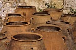 Vecchi vasi dell'argilla Immagini Stock Libere da Diritti