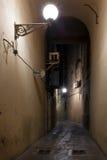 Vecchi vicoli del centro edificato di Mazara del Vallo Fotografia Stock Libera da Diritti