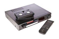 Vecchi video registratore a cassetta e nastri Immagini Stock