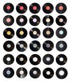Vecchia accumulazione dei record di vinile Fotografie Stock