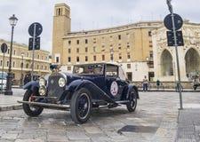 Vecchia alfa classica d'annata Romeo 6c 1914 dell'automobile immagine stock libera da diritti