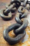 Vecchia ancora-vita chain gigante Fotografia Stock Libera da Diritti