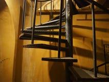Vecchia annata della costruzione, ferro a spirale Fotografie Stock Libere da Diritti