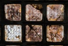 Vecchia architettura del mattone di vetro Fotografie Stock